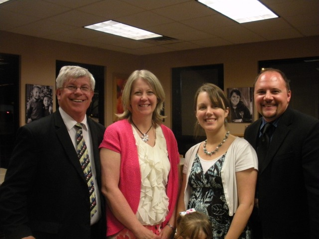 With the Fords, new ministry partners at Temple Baptist Church in Hobbs, NM.