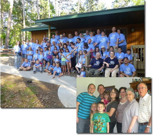Courts and Embke Family reunions (both sides of Rachelle's family)