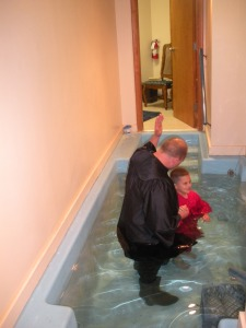 Ben had the priviledge of baptizing Lucas at our home church.