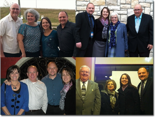 Some of the pastors and wives from the churches we've presented at.