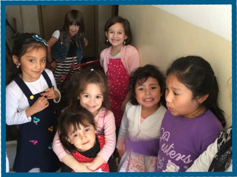 Alenna with some girls from church and her Argentine cousins.