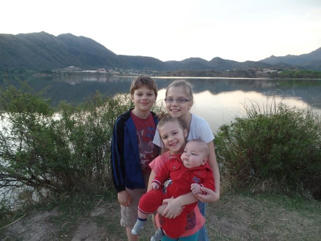 The kids at Lake Potrero in San Luis.