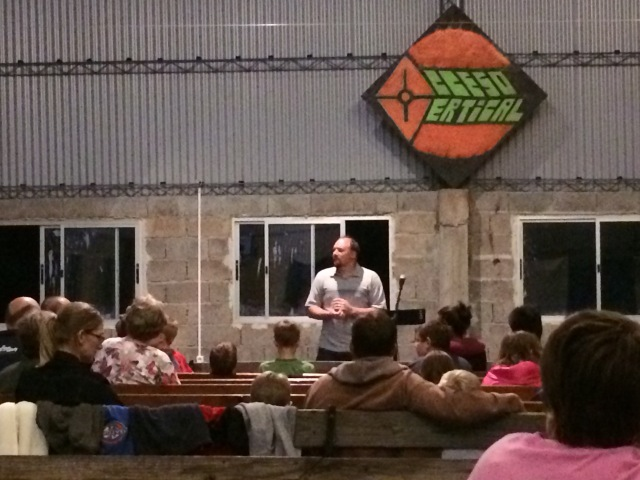 Ben preaching at the Easter retreat in Uruguay.